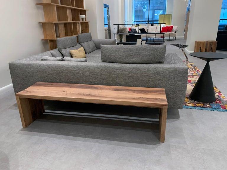 Modern e15 European Walnut Calle Bench For Sale