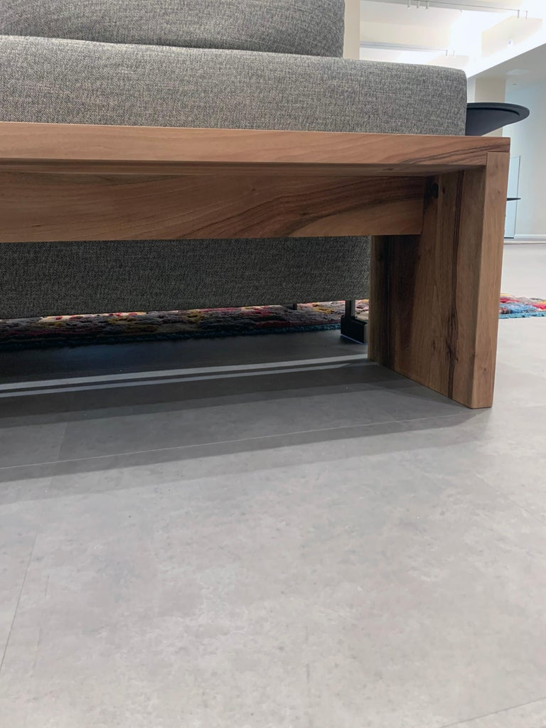 e15 European Walnut Calle Bench In Excellent Condition For Sale In New York, NY