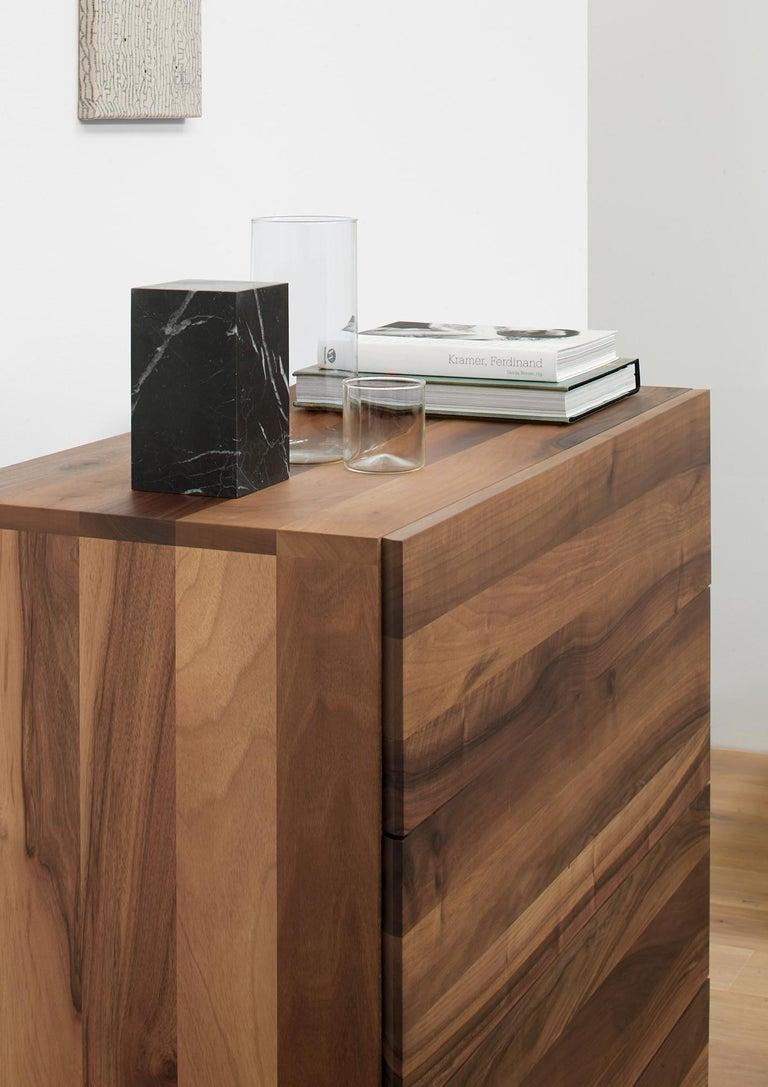 Modern e15 Fatima Chest of Drawers with Black Steel Base by Philipp Mainzer For Sale