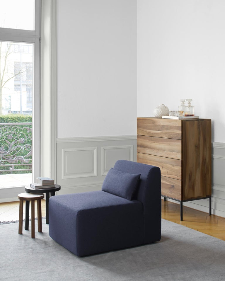 German e15 Fatima Chest of Drawers with Black Steel Base by Philipp Mainzer For Sale