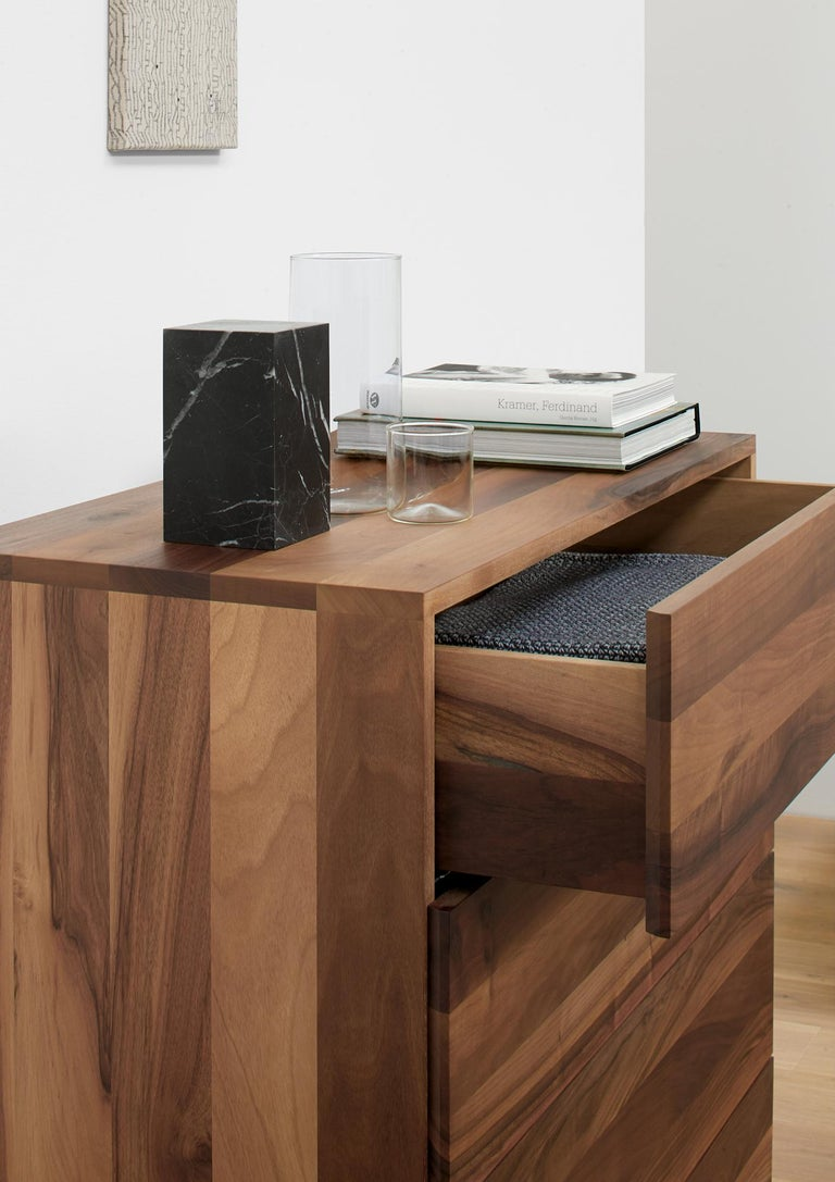 e15 Fatima Chest of Drawers with Black Steel Base by Philipp Mainzer In New Condition For Sale In Washington, DC