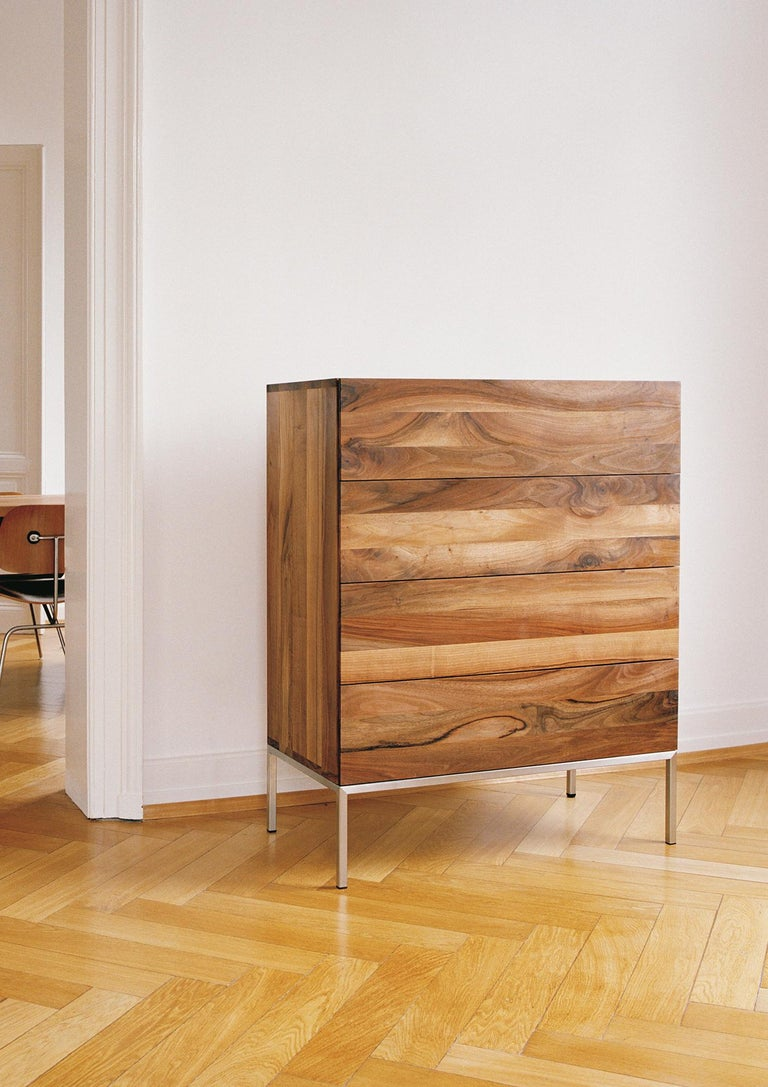 Contemporary e15 Fatima Dresser with Stainless Steel Base by Philipp Mainzer For Sale