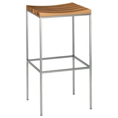 e15 Grace Stool with Stainless Steel Base by Philipp Mainzer