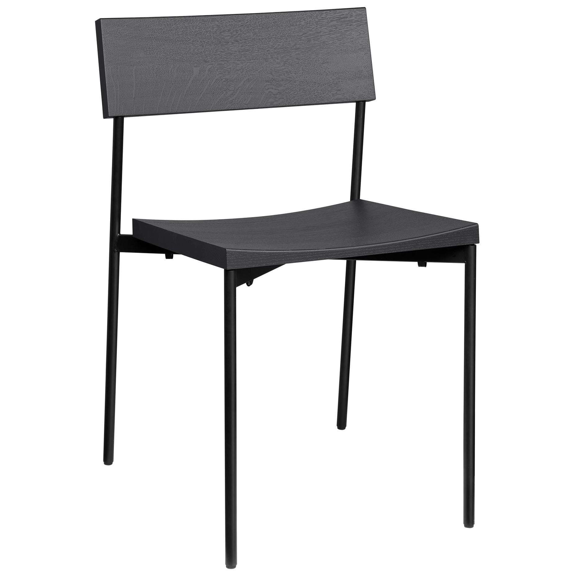 e15 Henning Chair with Jet-Black Frame by Philipp Mainzer
