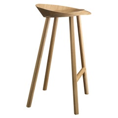 e15 Jean Stool Wood by Stefan Diez