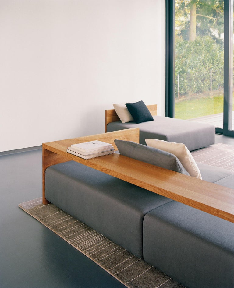 Modern e15 Kashan Sofa with Oak Waxed Frame by Philipp Mainzer For Sale