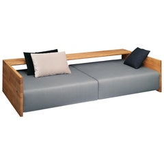 e15 Kashan Sofa with Oak Waxed Frame by Philipp Mainzer