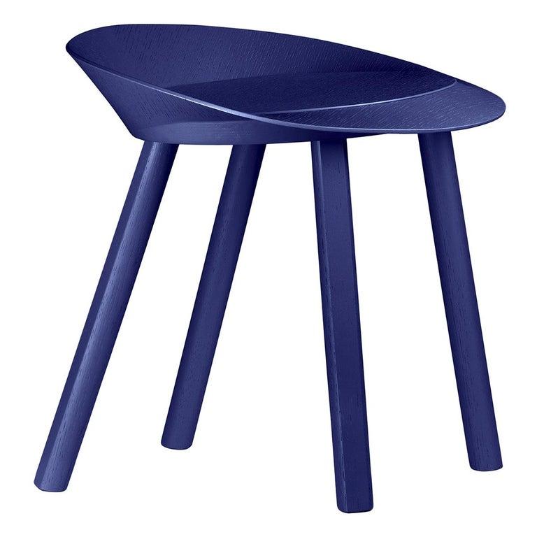 For Sale: Blue (Lapis Blue Lacquer) e15 Mr. Collins Stool by Stefan Diez