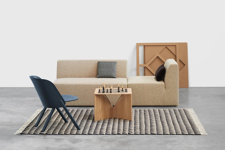 """Calvert is from a series of coffee tables, designed by German functionalist architect Ferdinand Kramer during his time in America. Part of his successful """"Knock-Down"""" furniture series, it consists of a tabletop and two crossing invertible sheets"""
