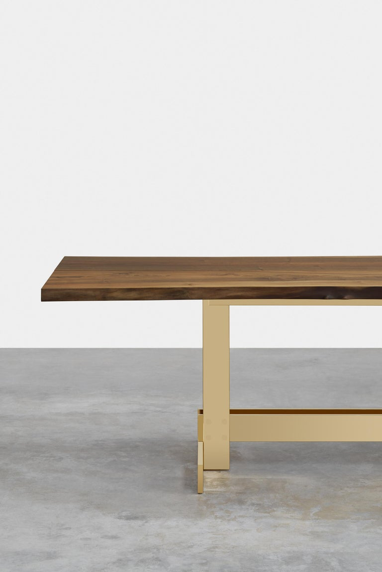 Modern e15 Selected Trunk II Table with Brass Polished Base by Philipp Mainzer For Sale
