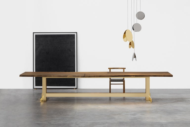 e15 Selected Trunk II Table with Brass Polished Base by Philipp Mainzer In New Condition For Sale In Washington, DC