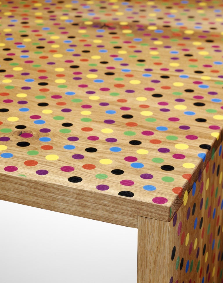 Bernhard Willhelm, German fashion designer now headquartered in Paris, is famous for his expressive avant-garde clothing and his distinct, iconic patterns, colors and cuts. In an exclusive collaboration with e15, Willhelm modified the solid oak