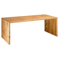 e15 Selected Willhelm Table in Oak with Screen Printed Dots by Bernhard Willhelm