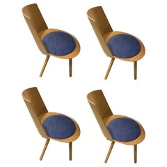 E15 Set of Four Houdini Chairs Designed by Stefan Diez