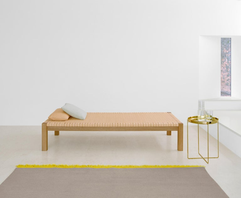 Contemporary e15 Theban Daybed with Walnut Waxed Base by Ferdinand Kramer For Sale