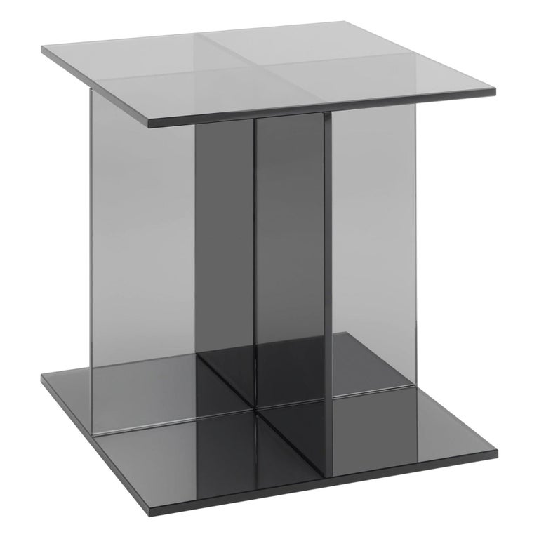 For Sale: Gray (Smoke Gray) e15 Vier Side Table by Philipp Mainzer
