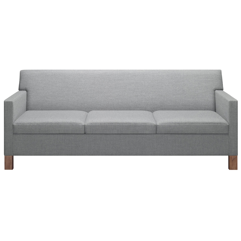E15 Westhausen Sofa with Walnut Base by Ferdinand Kramer
