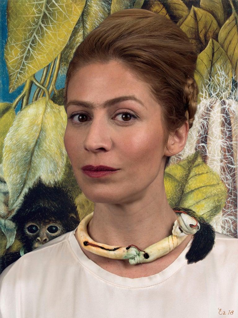 E2 - Kleinveld & Julien Portrait Photograph - Ode to Frida Kahlo's Self-Portrait with Monkey
