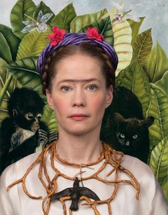Ode to Frida Kahlo's Self-Portrait with Thorn Necklace and Hummingbird