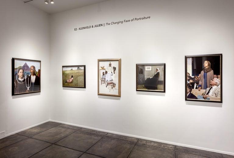 Ode to Ingres' Grand Odalisque - Black Portrait Photograph by E2 - Kleinveld & Julien