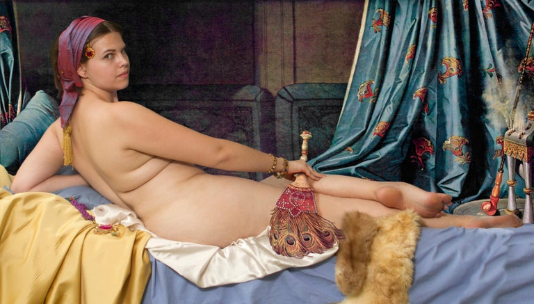 E2 - Kleinveld & Julien Portrait Photograph - Ode to Ingres' Grand Odalisque