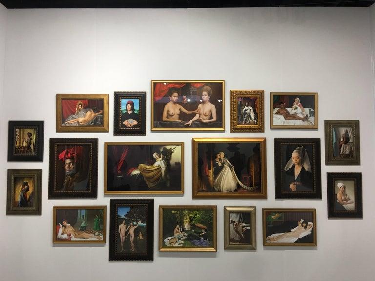Ode to Manet's Déjeuner sur l'herbe - Contemporary Print by E2 - Kleinveld & Julien