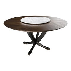E214/215 Eclipse Round Dining Table with Lazy Susan