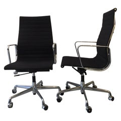EA 119 Eames High Back Office Chair Black Hopsak