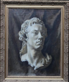 Study of a Marble Bust - British 40's Slade School art still life oil painting