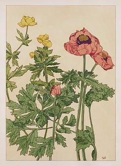 Floral Pochoir Prints - 2