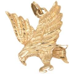 Eagle in Flight Charm in 14 Karat Yellow Gold