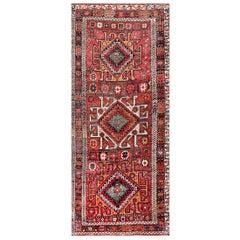 "Eagle Kazak Design Antique Tribal Persian Kurdish Rug. Size: 5' 3"" x 12' 3"""