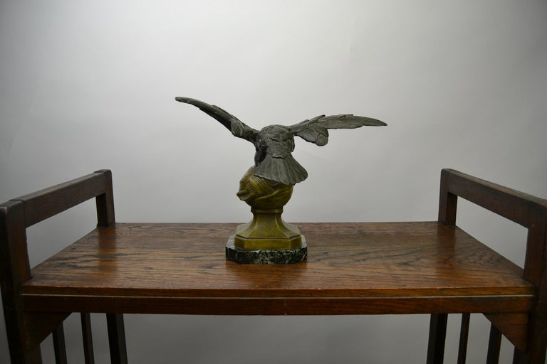 Eagle on Globe Ornament by Ch Perron, France, Art Nouveau For Sale 5
