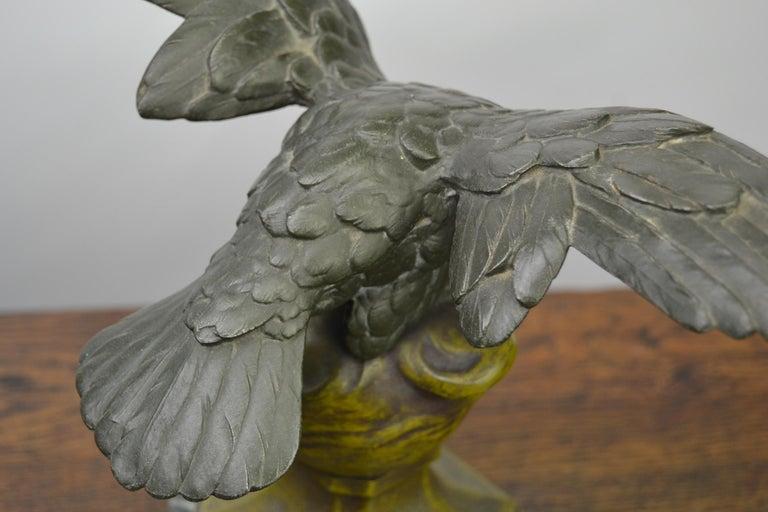 Eagle on Globe Ornament by Ch Perron, France, Art Nouveau For Sale 6