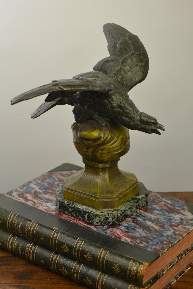 Eagle on Globe Ornament by Ch Perron, France, Art Nouveau For Sale 12