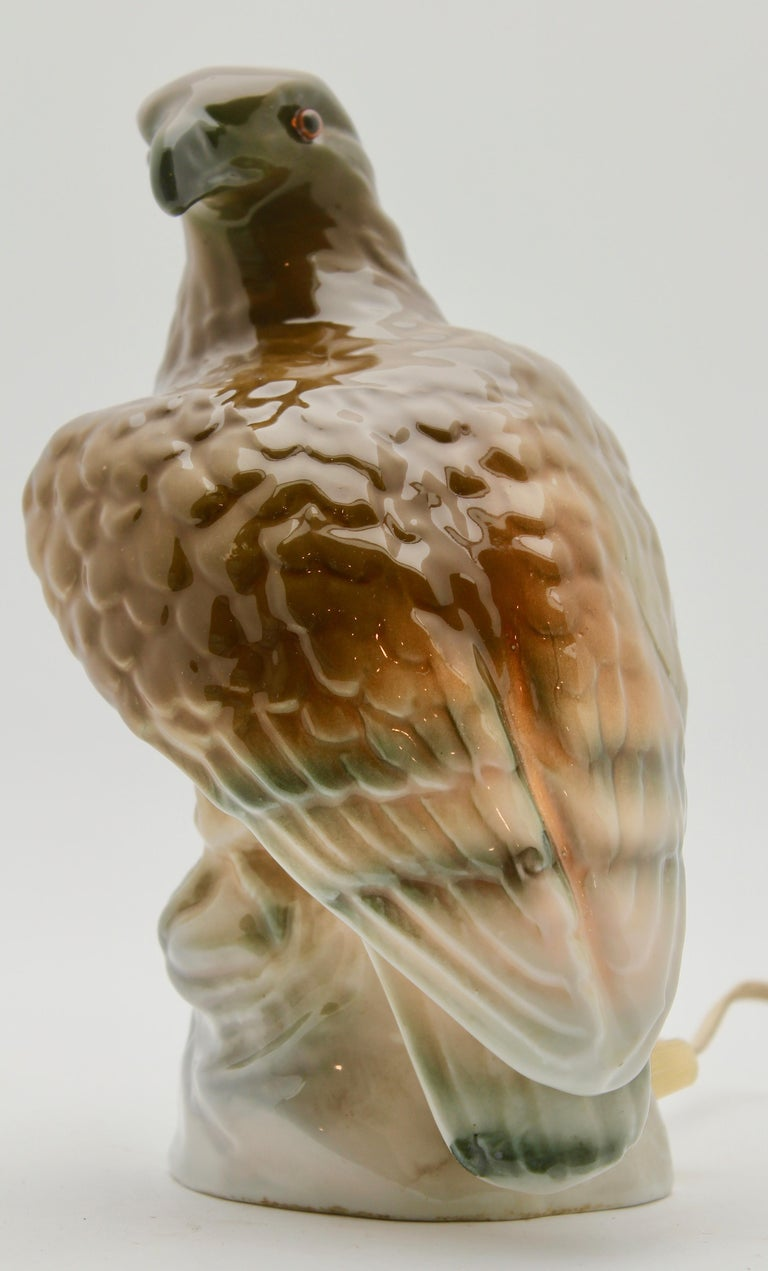 Rare and gorgeous eagle perfume lamp attributed to Carl Scheidig Grafenthal, Germany.