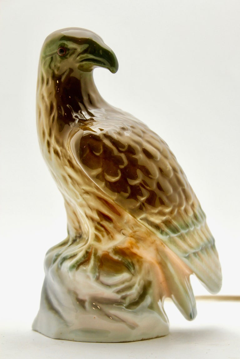 Art Nouveau Eagle Perfume Lamp Air Purifier Carl Scheidig Gräfenthal, Germany, circa 1930s For Sale