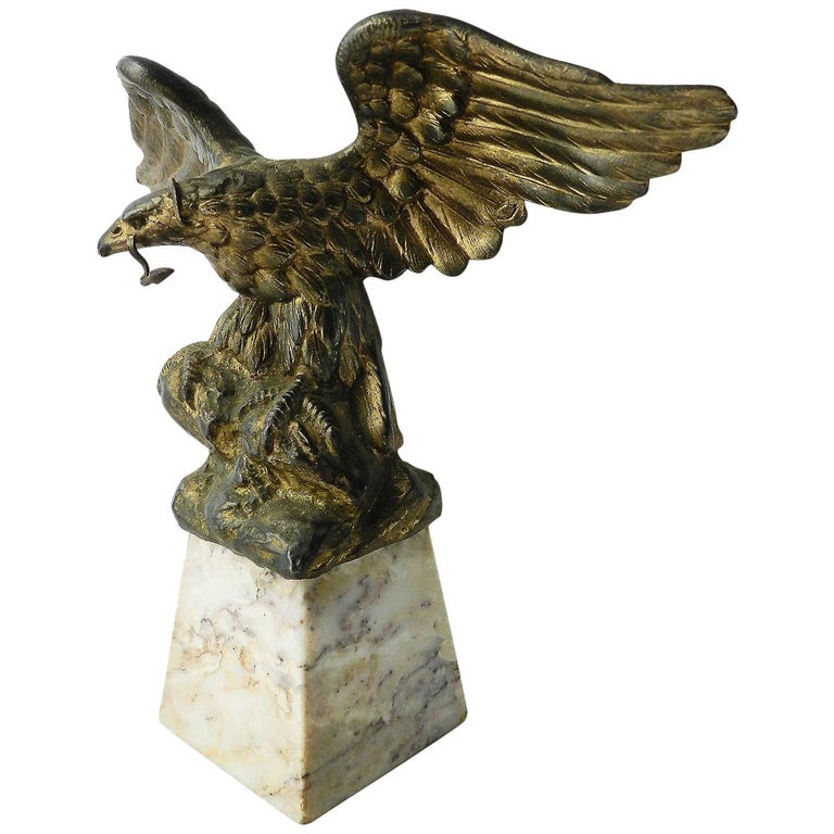 Eagle Pocket Watch Stand Holder French Early 20th Century For Sale