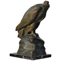 Eagle Sculpture in Patinated Terracotta, Early 20th Century, Italy