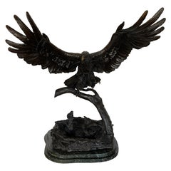 Eagles Lair Bronze on Marble by Ed Chope