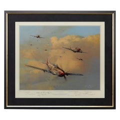"""""""Eagles on the Rampage"""" Print by Robert Taylor, Autographed by Ten Aces"""