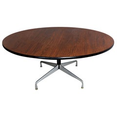 Eames Round Rosewood Table with Original Accessories