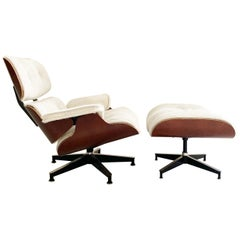 Eames 670 Lounge Chair and 671 Ottoman in Brazilian Cowhide