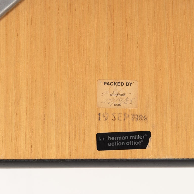 Eames Action Office Machine Table on Wheels with Contract Base for Herman Miller 2