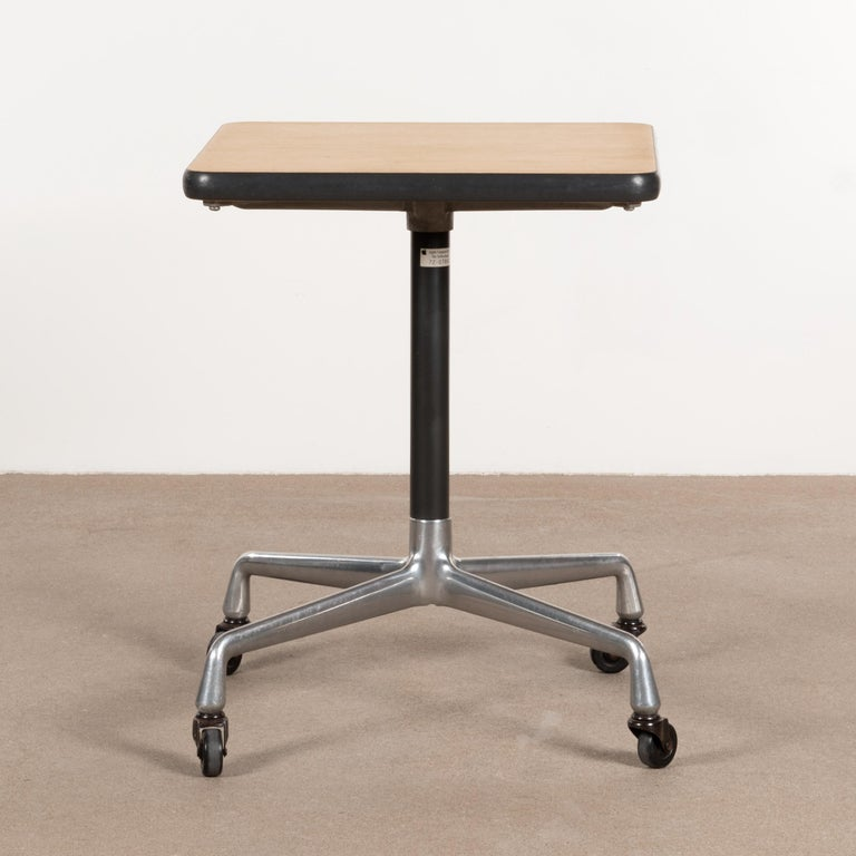 Mid-Century Modern Eames Action Office Machine Table on Wheels with Contract Base for Herman Miller