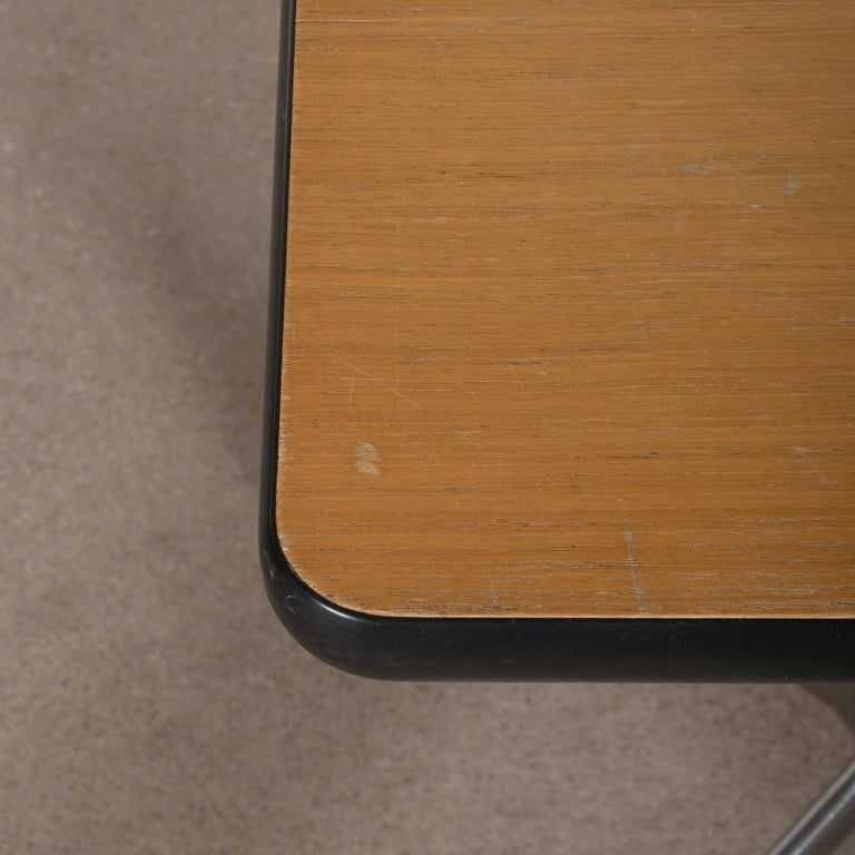 Veneer Eames Action Office Machine Table on Wheels with Contract Base for Herman Miller