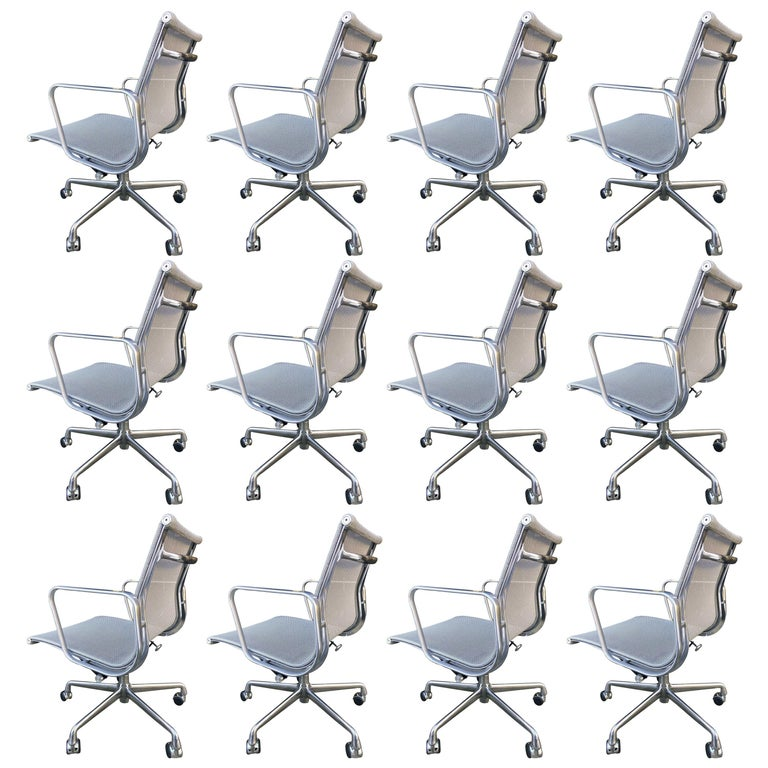 Eames Aluminum Group Chairs for Herman Miller For Sale