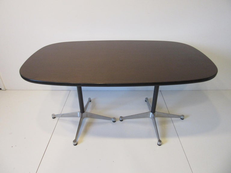 North American Eames Aluminum Group Dining Table for Herman Miller For Sale