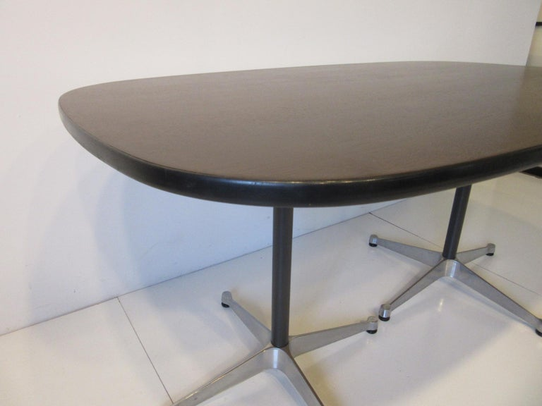 20th Century Eames Aluminum Group Dining Table for Herman Miller For Sale