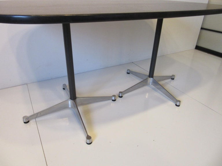 Wood Eames Aluminum Group Dining Table for Herman Miller For Sale